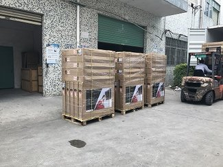 100pcs of 32inch Magic Mirror TVs are shipped to our valued client - WeMoove company from France!